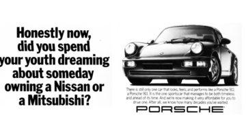 Le pubblicità Porsche che non ti aspettavi… O forse si.