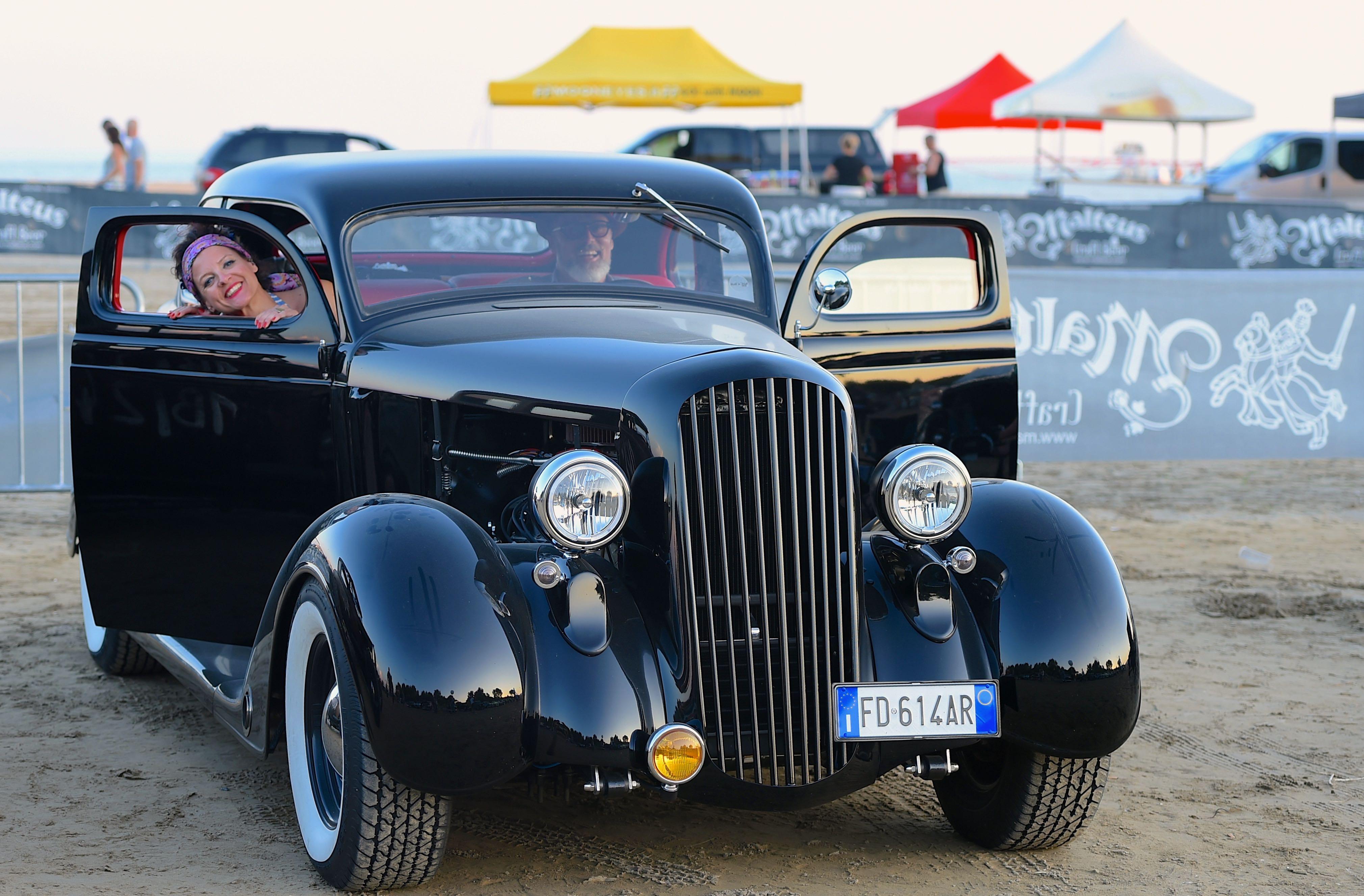 Roll'n Flat Beach Race_primo piano auto epoca